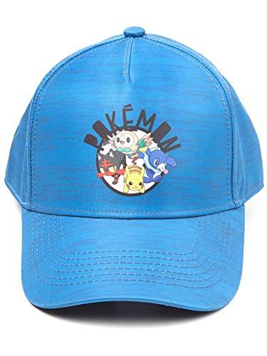 Pokemon Sun und Moon Baseball-Cap hellblau