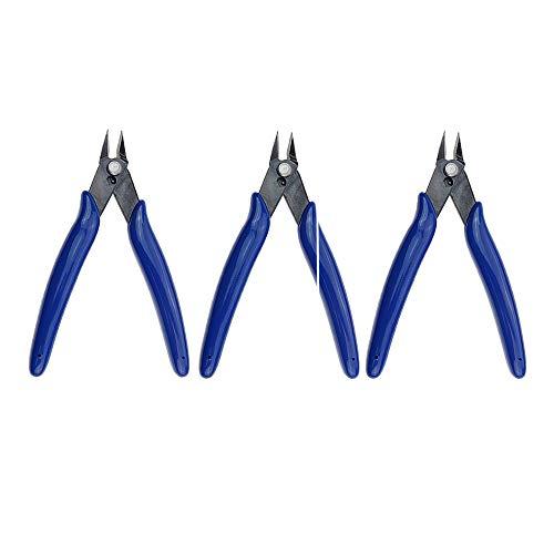 3x Kleiner Elektronik Seitenschneider, feiner Drahtschneider, mini Zange