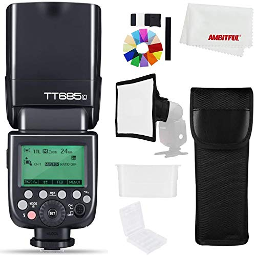 Godox TT685C Fotocamera Strobe Flash Light Ad Alta Velocità Sincronizzazione Esterna 1/8000s TTL Speedlight Flash per Canon Camera 1100D 1000D 7D 6D 6
