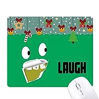 緑の悪い歯残渣笑い ゲーム用スライドゴムのマウスパッドクリスマス