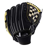 Sharplace Guante de Béisbol de Primera Base de 10,5 '' / 11,5 '' / 12,5 '' Equipo para Lanzador Zurdo - Negro + Amarillo, 10,5 Pulgadas