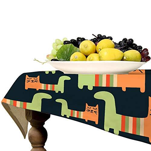 Naive - Mantel rectangular de lino para mesa de cocina, comedor, decoración de mesa, 57 x 119 pulgadas