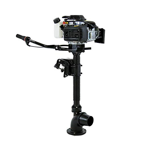 DNYSYSJ 4HP 4-Stroke Outboard Motor, Air Cooling System, Jet Pump Boat Engine for Inflatable Fishing Boat, CDI Ignition System 55cc
