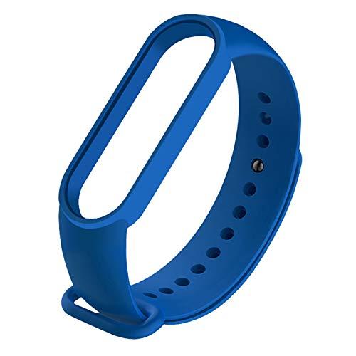 Correa para mi banda MI 5 4 3 correa de pulsera #147258 (Color : B 2 sapphire blue, Size : For Mi band 4)