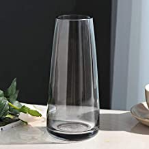Flower Bottle Creative Simple Hydroponic Vase Desktop Glass Container Cylindrical (22 * 6.5cm)