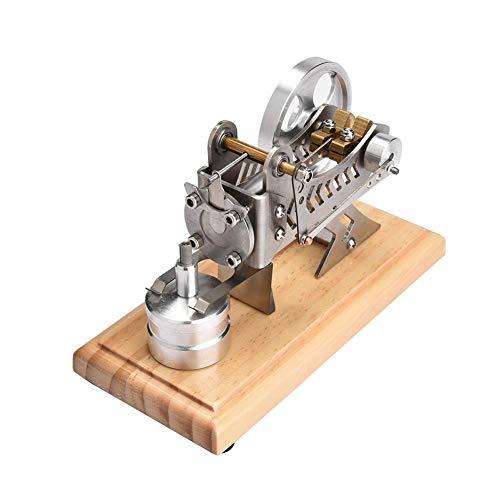 Focket Mini-Stirlingmotor, LED-Luft-Stirling-Vakuummotor Motormodell Lustiger Stromgenerator Modell Physiklabor Lehrmodell Lehrspielzeug Einzigartiges Geschenk für Ingenieure, Kinder, Studenten