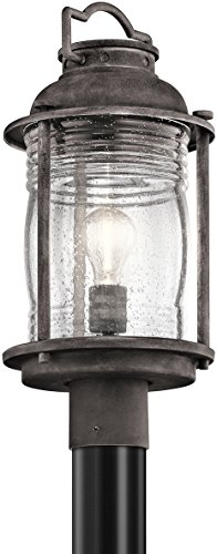 Kichler 49573WZC, Ashland Bay Outdoor Post Lighting, 75 Total Watts, Weathered Zinc
