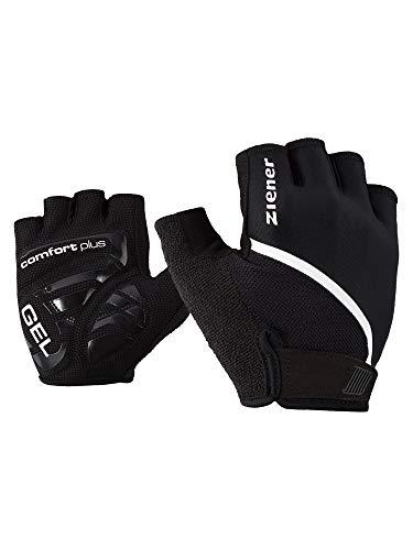 Ziener Celal Men's Cycling Mountain Bike Cycling Gloves | Short Finger Breathable / Cushioning / Non-Slip - Black - 9 UK