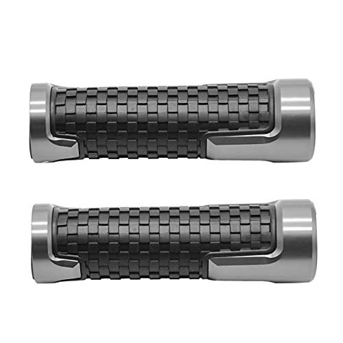 Adecuado para KYMCO AK550 AK 2017 2018 7/8 `` 22MM CNC Aleación De Aluminio Antideslizante Accesorios De Manillar De Motocicleta De Goma A Estrenar (Color : Gray)