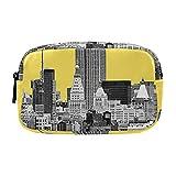 Estuche portátil multifunción Estuche cosmético The Empire State Building Pantone Amarillo Organizador Bolsa de viaje de maquillaje