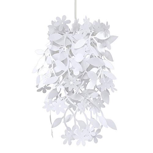 MiniSun – Moderner weißer Lampenschirm mit Blumen- und Blütenmotiv – Deckenlampe Blumen Design