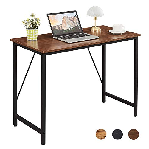 Superjare 39 Inches Computer Desk Sturdy Home Office Desk for Laptop Modern Simple Style Writing Table Multipurpose Workstation  Brown