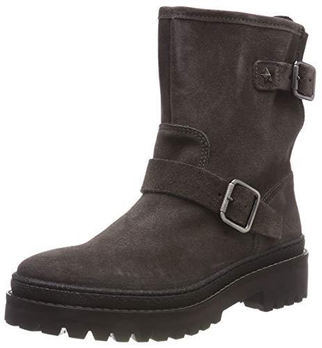 Tommy Hilfiger Damen Basic Suede Biker Boots, Grau (Steel Grey 039), 38 EU
