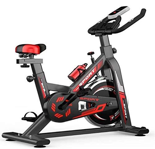 WERFFT Fahrradtrainer Bike, Indoor Cycling stationäres Fahrrad, Lenker und komfortable Sitz Spin Heimtrainer - Schwarz, Rot,Schwarz