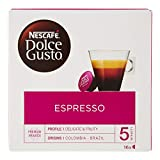 NESCAFÉ Dolce Gusto Espresso | Kaffeekapseln | 100% edle Arabica Bohnen | Charaktervoller Espresso | Fruchtige Granatapfelnote | Samtige Crema | Aromaversiegelte Kapseln | 1er Pack (16...