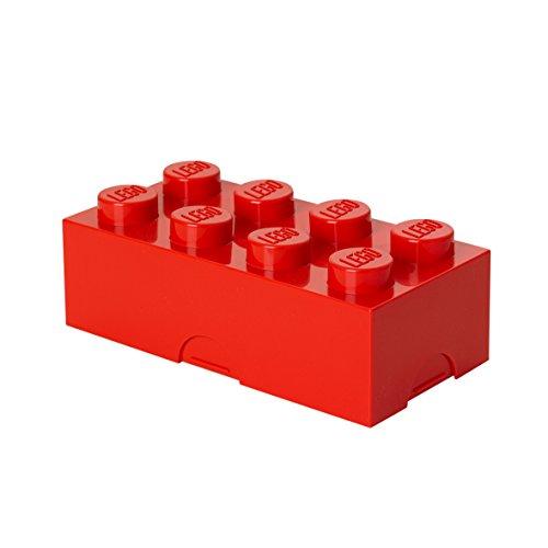 LEGO - 4023 - Boîte à lunch 8 plots, petit conteneur de rangement ou porte-crayons, rouge