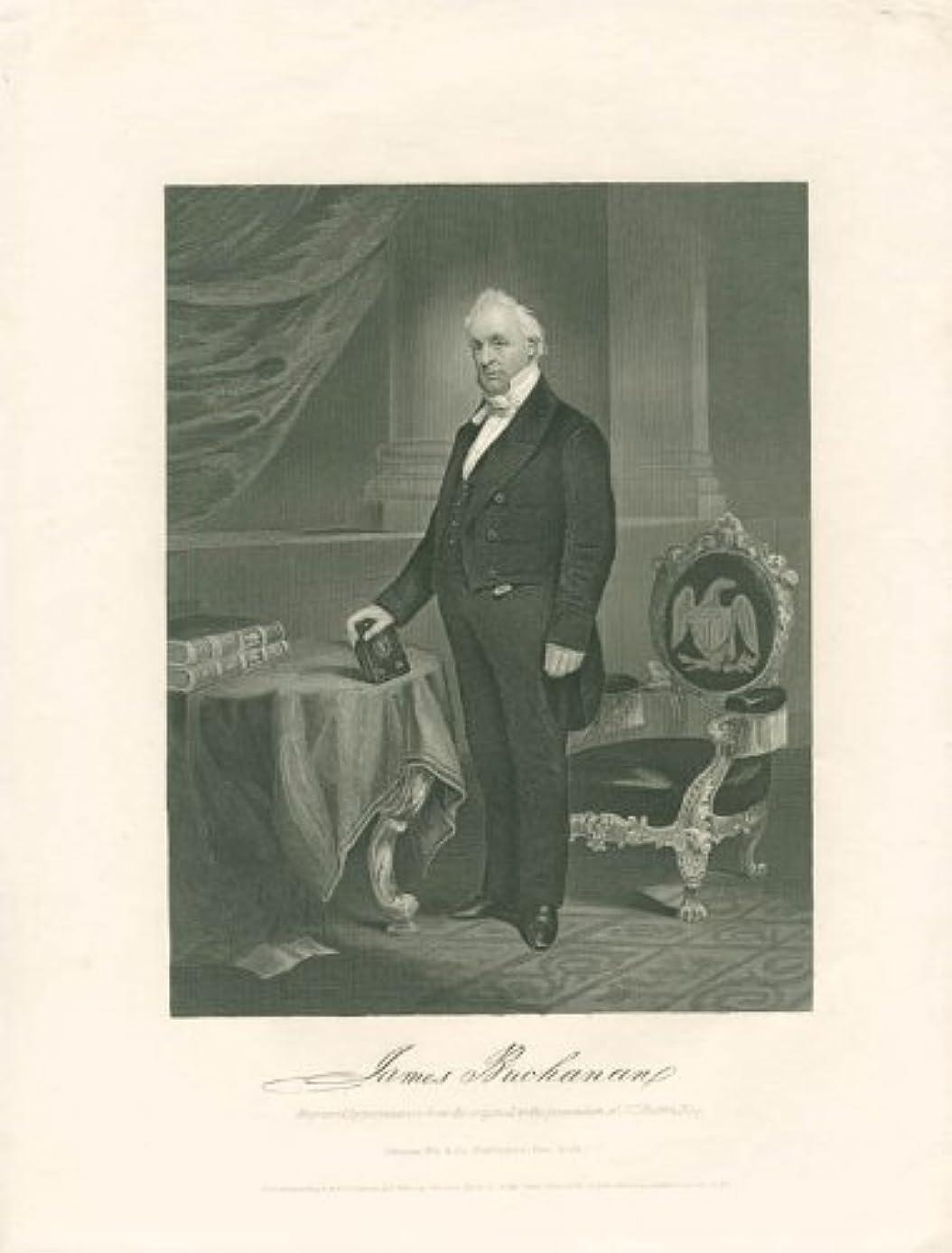 President James Buchanan - Engraving Unsigned