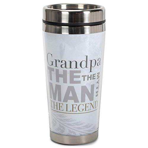 Grandpa The Man The Myth The Legend 16Unze Edelstahl Travel Tumbler Becher