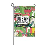 YUMOING Home Decorative Outdoor Double Sided Creative Art Painting Architectural Garden Flag House Yard Flag Garden Yard Decorations Seasonal Welcome Outdoor Flag 12x18in Spring Summer Gift