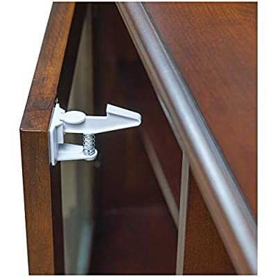 Cabinet Locks Child Safety Latches (8 Pack) - Baby Proofing Cabinets & Drawers Locks - Child Proof Your Home - No Drilling & No Tools Required! by