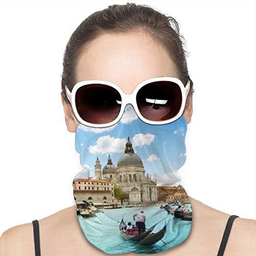 NA Variety Kopftuch Halswärmer Bandanas Outdoor-Kopfbedeckung Schal Halstuch Bandanas für Männer und Frauen Bandana Venice Boote Gebäude Flüsse Kanal Menschen Städte
