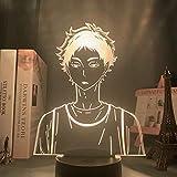 Luces de anime 3D LED, acrílico llevó la luz de la noche anime Haikyuu Shoyo Hinata figura, decoración del dormitorio de los niños luz nocturna fresca manga Gadget lámpara de mesa LED luces de noche