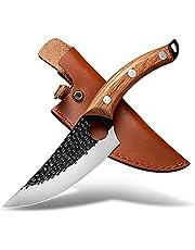 huusk Japan küchenmesser mit loch set slaktare handsmidd urbeningskockkniv