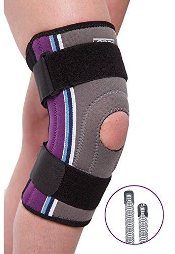 LOREY Kniebandage, Kniestütze aus offenporigem Neopren mit Zwei Klettverschlüssen (XL)