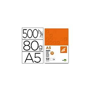 Liderpapel Papel A5 80g/m2 Paquete de 500 Color Blanco