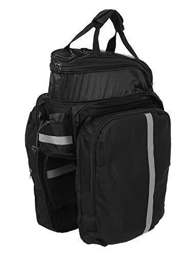 Lixada 25L Fahrrad Rücksitztasche Multifunktions erweiterbar Wasserdicht MTB Fahrrad Gepäcktasche Fahrrad Gepäcktasche mit Regenschutz, schwarz - 3
