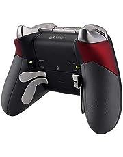 eXtremeRate Agarre de Goma para Xbox One Elite Asa Izquierda Derecha Empuñadura Antideslizante Grip Tacto Suave Mango de reemplazo Kit para Mando de Xbox One Elite Modelo 1698(Rojo)