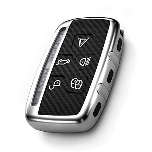 Auto Schlüssel Hülle Kompatibel Range Rover, TPU Cover für 5 Tasten Autoschlüssel Schutz Geeignet für Road Tigers, Range Rover, Aurora, Freelanders 2, Fo& 3, Fo& 4, Jaguar, XF Funkschlüssel Hülle