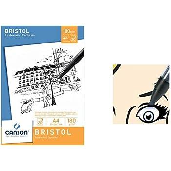 Canson 200005762, Libro di Schizzi A3, 29,7 x 42 cm, Bianco