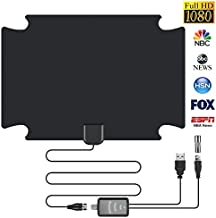 HD Digital TV Antenna Long Range HDTV Antennas Indoor Amplifier Signal Booster Support 4K 1080P UHF VHF Freeview HDTV Local Free Channels with Coax Cable