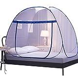 YiiJee Mode Zusammenklappbar Moskitonetz Einzel Oder Doppelbetten Mückennetz für Zuhause Camping (Stil 1, 180)