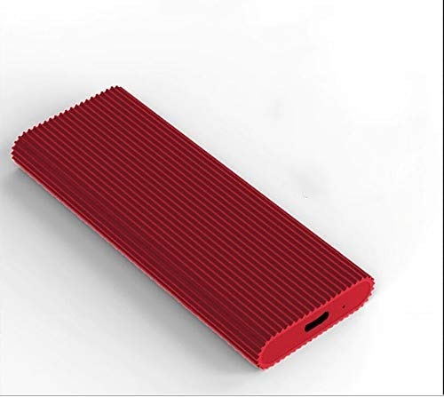 External Hard Drive Type C USB 2.0 Portable 1TB 2TB Hard Drive External HDD Compatible for Mac Laptop and PC(red-uv3)