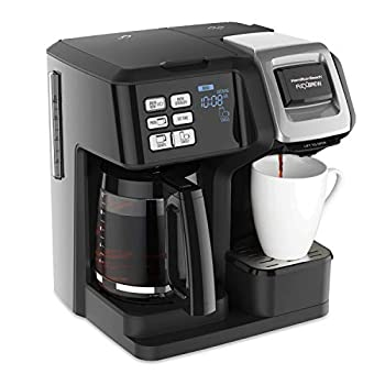 Hamilton Beach 49976 FlexBrew Trio 2-Way Single Serve Coffee Maker & Full 12c Pot Compatible with K-Cup Pods or Grounds Combo Black