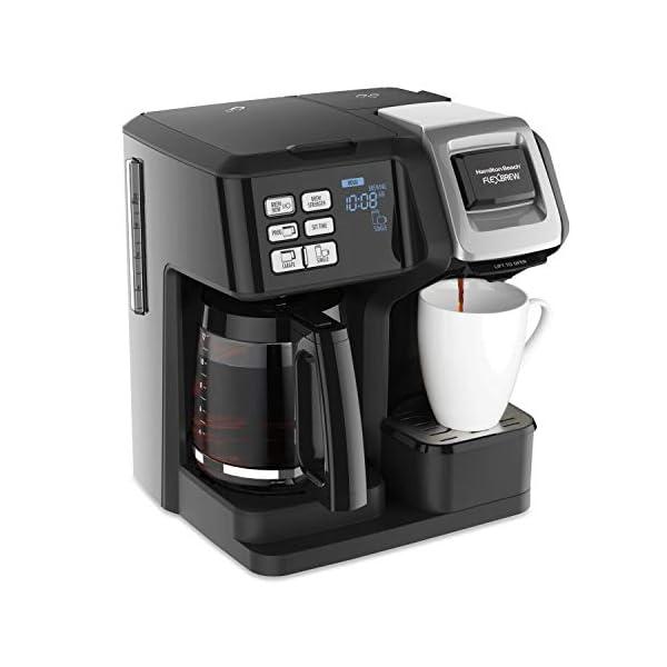 Hamilton Beach FlexBrew Trio Coffee Maker, 2-Way Single Serve & Full 12c Pot...