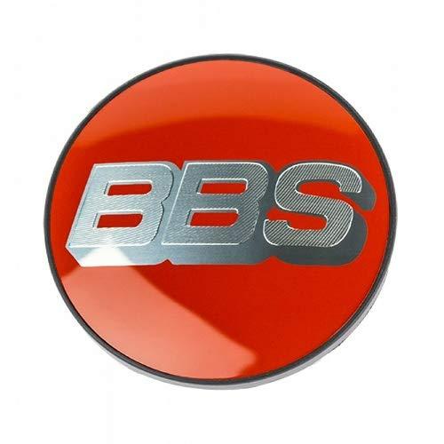Original BBS Symbolscheibe Silber/rot 70,6mm NÜRBURGRING Edition Nabendeckel