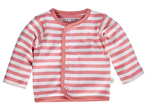 Bio Baby Jacke 100% Bio-Baumwolle (kbA) GOTS zertifiziert, Rosa Off-White, 50/56