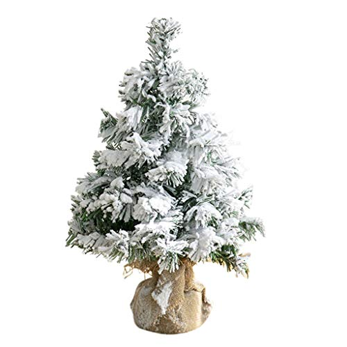 stoertuy Beautiful Choice Products Snow Flocked Hinged Artificial Pine Christmas Tree Holiday Decoration Stand-B