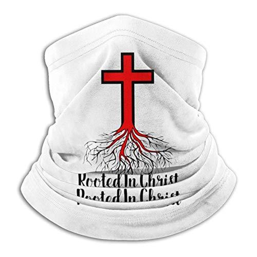 Multifuncional uso turbante cuello polaina mas-k pasamontañas anti-UV polvo calentador de cuello unisex arraigado en Cristo religioso cristiano