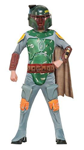 Star Wars Deluxe Kinder Kostüm Boba Fett Größe S - 116cm