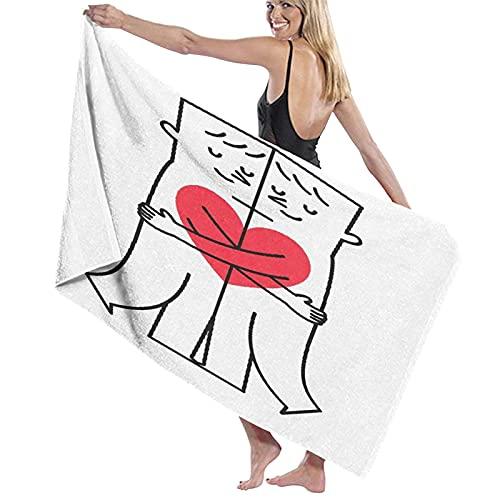 Asciugamano da bagno Coppia gay che abbraccia Asciugamani in fibra superfine al 100% Asciugatura rapida Altamente assorbente per l'uso quotidiano Bagno SPA 32 'x52'