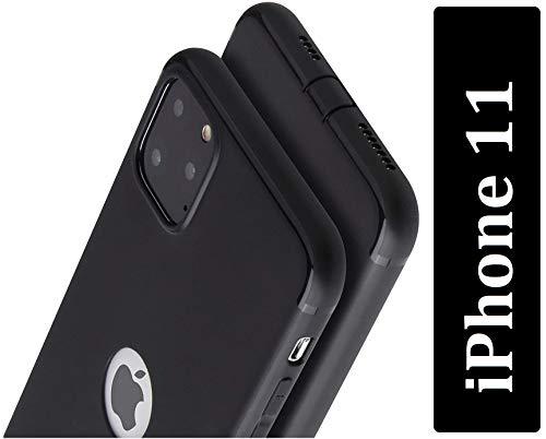 PfX Schwarz Matte Hülle geeignet für iPhone 11 Special-Edition TPU Silikonhülle mit integriertem Staubschutz Ultra-Slim