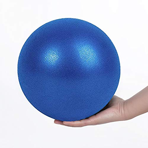 COMI Soft Gymnastikball, Kleiner Pilates Ball, Mini Gymnastikball, Pilates, Yoga, Kerntraining und Physiotherapie, Verbessert das Gleichgewicht - Kommt mit Aufblasbarem Stroh (Blau 20CM)