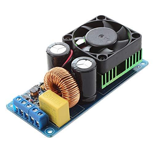 IRS2092S 500 W Monokanal-Digitalverstärker, Klasse D, HiFi-Verstärker, Leistungsplatine mit Lüfter, Endprodukt / Mono / Super Lm3886-blau