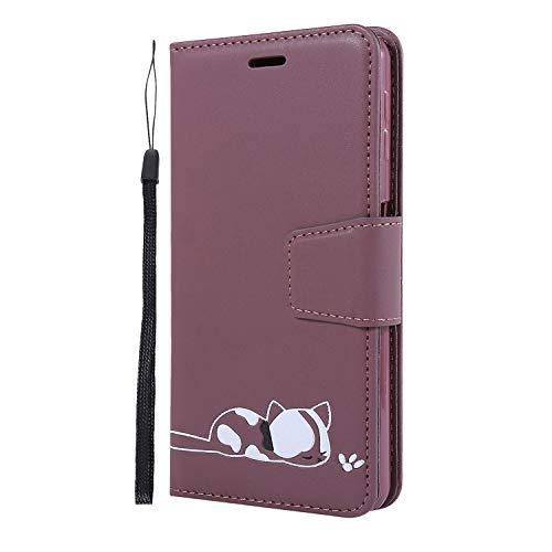 Lomogo Galaxy A7 2018 Hülle Leder, Schutzhülle Brieftasche mit Kartenfach Klappbar Magnetisch Stoßfest Handyhülle Case für Samsung Galaxy A7 2018/A750FN - LOGHU050066#1