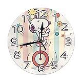 Reloj decorativo de pared silencioso lindo no que hace tictac el reloj digital funciona con pilas redondo