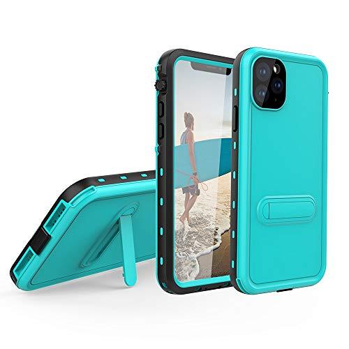 Haiqing Funda resistente a prueba de golpes, resistente al agua, con protector de pantalla integrado, compatible con iPhone 11 Pro Max (6,5 pulgadas). Color: azul